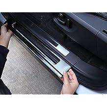 Accesorios de acero inoxidable 304 para coches con pedal de bienvenida, tiras de sujeción integradas