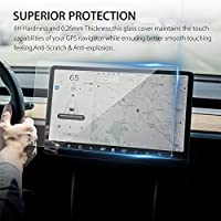 1 Pcs 15 Inch Car Screen Protector Clear Tempered Glass Screen Protector For Tesla Model 3 Navigation Protection Drop