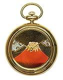 Urushi Maki-e JOGA - Reloj de bolsillo (tamaño 4), color rojo