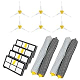 Powilling Accessories Sets for IRobot Roomba 800 805 860 861 870 871 880 885 890 900 960 980 Spare Parts Brush Filter