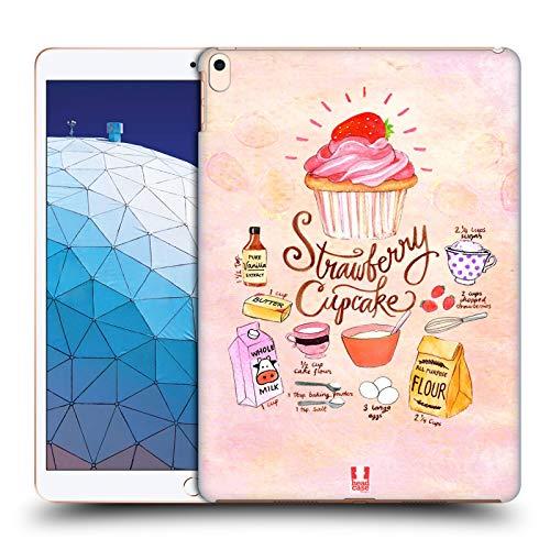 head case designs cupcake fragola ricette illustrate cover dura per parte posteriore compatibile con ipad air (2019)