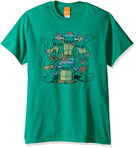 Turtles Herren T-Shirt TMNT Group - Grün - Mittel ()