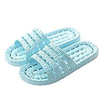fankou Zapatillas de Baño Verano Zapatillas de Baño Femenino Home Zapatos de Baño Inferior Blanda Antideslizante Zapatillas,39-40, Azul Cielo