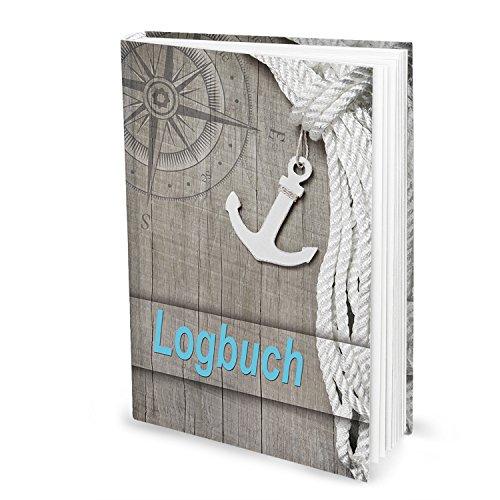 XXL DIN A4 HARDCOVER Logbuch OCEAN - Yachtlogbuch Schiffstagebuch Buch nach amtlichen Vorschriften Eigner Yacht Segeln Segler Geschenk Segelyacht Motorboot Besitzer - für 100 Tage auf See