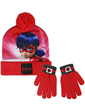 Cerdá 2200002557 Lady Bug - Set de gorro y guantes Niñas desde los 3 años, rojo