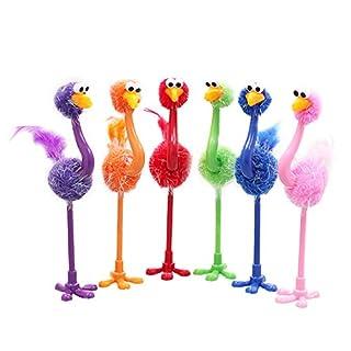 Aikesi 4PCS Pen Durable Writing Pen Animal Shaped Pen Ostrich Ballpoint Pen Suitable for Kids Adults Random Color