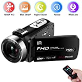 Caméscope Caméra vidéo FHD 1080P 30 FPS 30.0 MP Camescope de Vision Nocturne...