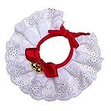 Weiße Spitze Hundehalsband, Prinzen Katze Partei Hochzeit Zubehör, Handgemachte Hohe Qualität, Modische & Cool
