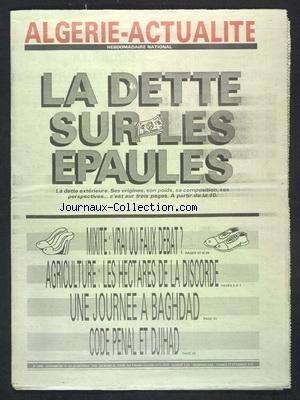ALGERIE ACTUALITE [No 1305] du 18/10/1990 par COLLECTIF