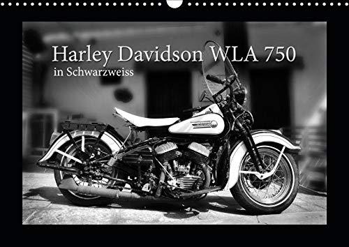 Harley Davidson WLA 750 in Schwarzweiss (Wandkalender 2020 DIN A3 quer): Den Mythos Harley Davidson spüren (Monatskalender, 14 Seiten ) (CALVENDO Mobilitaet)