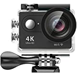 DawnRays Presents 4K Wi-Fi Ultra HD Action Camera|HD 2.0 Inch LCD Screen With 16MP Wi-Fi Action Camera | Anti-Shake Waterproof Sports Camera| Camera With High-Tech V3+ Sony 179 Sensor | 170° Wide-Angle Lens Camera| Sports Camera With Slow Motion Featu