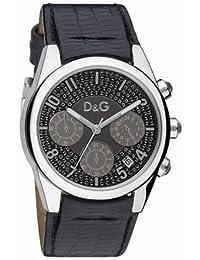 Dolce & Gabbana D&G - Reloj analógico de cuarzo para mujer con correa de piel, color negro
