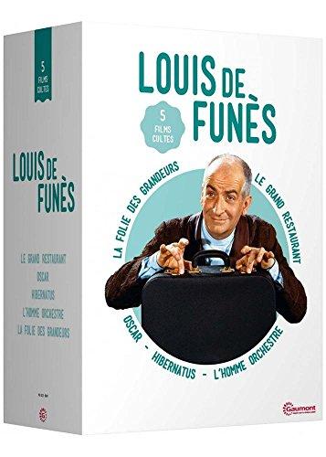 Coffret Louis de Funès : Oscar + Le Grand Restaurant + La Folie des Grandeurs + Hibernatus + L'Homme orchestre
