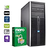 PC Gamer Multimédia Unité centrale - HP Elite 8300CMT - Nvidia Geforce GTX 1050 -Core i5-3470@3,2GHz-8 Go RAM - 1To HDD - 240Go SSD - Lecteur DVD - Win 10 PRO (Reconditionné Certifié)
