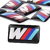 5 x 3D Autocollant pour Voiture BMW M3 Autocollant Auto-Emblème Jantes Volant 17 x 6 mm