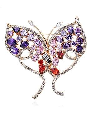 Gortl Small Fresh Butterfly Color Spilla Ornamento Splendido Moderno Naturale Mini Attraente Bella Elegante Semplice...