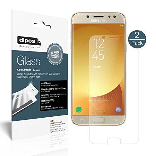 dipos I 2X Panzerfolie matt passend für Samsung Galaxy J5 2017 Schutzfolie 9H Displayschutz-Folie