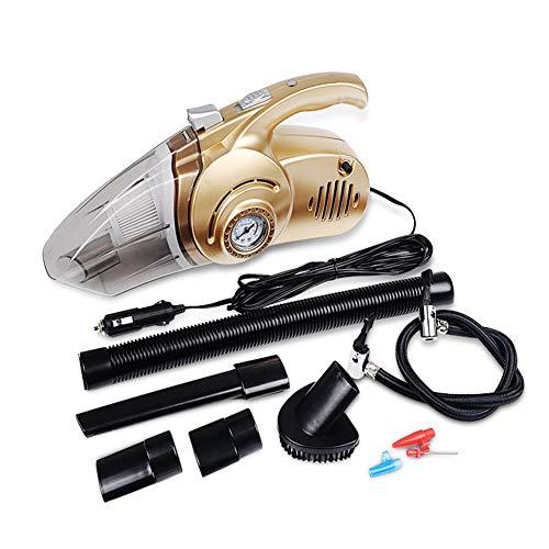 Saman Handstaubsauger,Mit LED-Beleuchtung 12V 120W 3000Pa Nass & Trocken Auto Handstaubsauger Mit 4.5M Netzkabel,1 HEPA-Filter,Lokales Gold