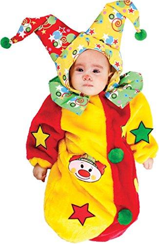 COSTUME di CARNEVALE da SACCOTTINO PAGLIACCETTO vestito per neonato bambino 0-3 Mesi travestimento veneziano halloween cosplay festa party 3591 Taglia 0-3