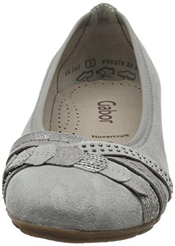 Gabor Shoes Fashion, Ballerine Donna Grigio (stone/grau/argento 19)