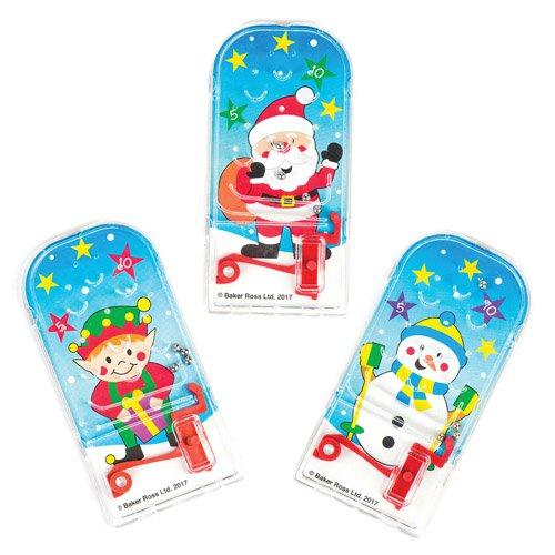 Mini flipper natalizi per bambini, giochi e giocattoli per bambini piccoli per un natale perfetto (confezione da 8)