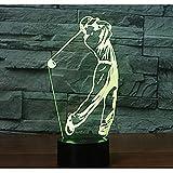 Veilleuse 3D Veilleuses Jouer au golf et 7 lumières colorées décorer de superbes...