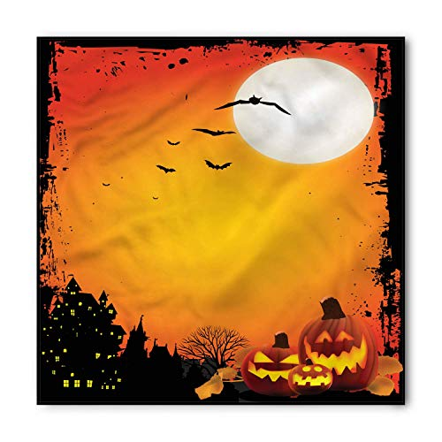 (BBABYY Halloween Bandana, Bats and Scary Pumpkins, Unisex Head and Neck Tie S60*60CM)