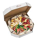 Pizza Socks Box 4 Paar MIX Italienische Hawaii Pepperoni Pizza LUSTIGE Socken - Ideal als Originelle GESCHENK - Bunt Socken - BAUMWOLLE Reich - Fun Gadget| Größen EU 36-40, Made in EUROPE