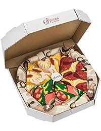 Pizza Socks Box 4 Paar Mix Italienische Hawaii Pepperoni Pizza Außergewöhnlich originelle Socken, die in der EU produziert wurden Ideal als Geschenk Größen 36 - 40 41 - 46 Aus Baumwolle