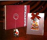 Spiral Fotoalbum + Fotorahmen + Foto-Clip Geschenkset Foto Album Weihnachten