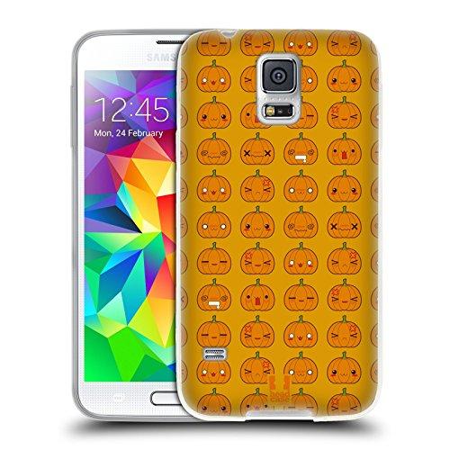 �rbis Muster Halloween Kawaii Soft Gel Hülle für Samsung Galaxy S5 / S5 Neo (Einfache Kürbis-halloween-designs)