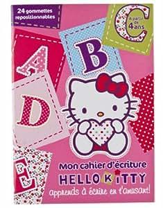 1 cahier d'écriture HELLO KITTY - à partir de 4 ans- Pour que votre enfant acquiert l'essentiel du programme écriture de CP