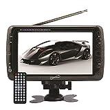 "Supersonic SC-195 7"" LCD 800 x 480pixels Black portable TV - Portable TVs (17.8 cm (7""), LCD, 800 x 480 pixels, 16:9, Digital, SD)"
