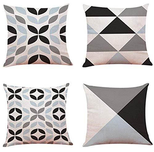 ShangSRS 4PC/Conjunto Fundas Cojines 45x45 Geométricas Modernos Funda de Cojines para Sofa...