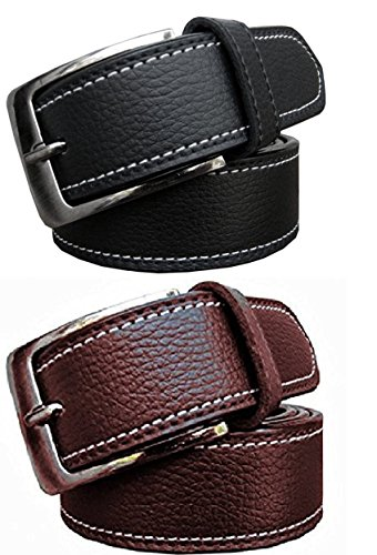 Zacharias Combo of 2 Men\'s Belt Black & Brown