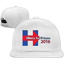 Macho/hembra Hillary prisión algodón plana gorra gorras de béisbol de malla ajustable gorro de malla para mujer Ash talla única