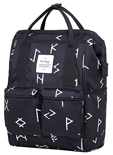 HotStyle DISA Fashion Blumen Damen Laptop Rucksack 14 zoll (44x27x17cm) - Tribal Tattoo (Laptop-rucksack Beste)