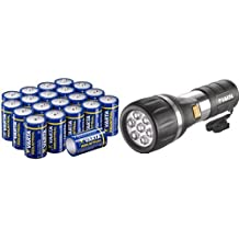 Varta 17611101421 Day Light Torcia LED Day Light 2D +  Confezione Industrial 20 Batterie Alcaline