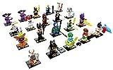 THE LEGO® Batman® MOVIE™ Serie 2 71020 Kompletter Satz mit allen 20 verschiedenen Figuren sowie zusätzlich je 2 GALAXYARMS Saigabeln, Katanas, Doppelklingen in Gold und Silber
