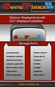 2 x SecuFlexx Spiegelfolie mit herrvoragendem Spiegeleffekt (Displayschutzfolie, Designfolie) für Panasonic Lumix DMC-FX12