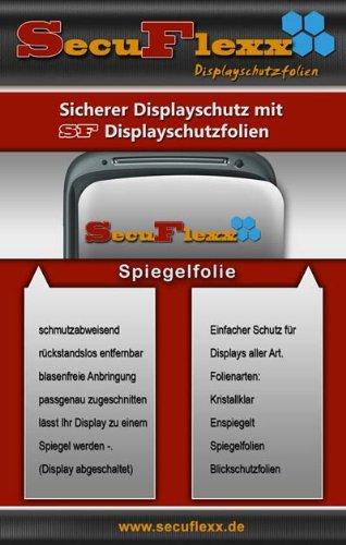 2 x SecuFlexx Spiegelfolie mit herrvoragendem Spiegeleffekt (Displayschutzfolie, Designfolie) für LG U990 Viewty