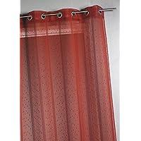 Home Maison hm6923308/para cortinas de tamaño grande de transporte de poliéster ancho 300 x 240 cm rojo
