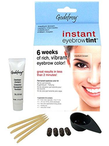Godefroy InstantEyebrowTint, Augenbrauen - Färbeset für Endverbraucher, graphit, 1er Pack (1 x 4...