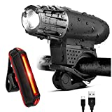 BESTVECH Bicycle Safety Headlight with USB Taillight
