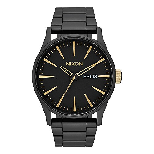 Nixon Herren Analog Quarz Uhr mit Edelstahl Armband A356-1041-00