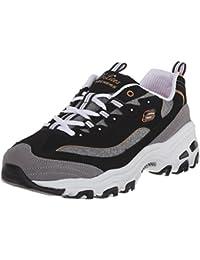 SKECHERS D'Lites-Me Time Damen Sneaker schwarz/grau