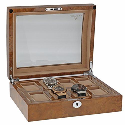 de-haute-qualite-montre-collectionneurs-boite-pour-8montres-avec-lumiere-loupe-placage-noyer-haute-b