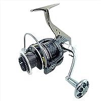 Funsion 5000Meatal sinistra/destra intercambiabile manico pieghevole Spinning Pesca Mulinelli con Gear Ratio 5.5: 112+ 1cuscinetti a sfera per acqua dolce Pesca in acqua