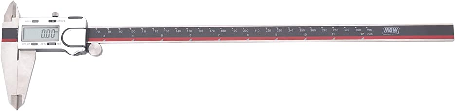 MGW Precision DIG300 Digital Caliper 300mm/12, Black