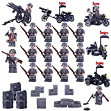 DUS 18er Mini Soldaten Figuren Set SWAT Team Minifiguren Armee Set Bausteine für Kinder